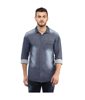 Denim Regular Shirt,  blue, xl