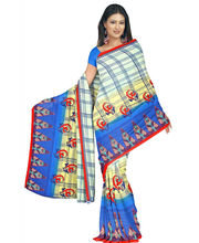Designer Art Silk Saree With Unstitched Blouse - 29224-BL, Blue