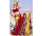 Faux Georgette Printed Saree (Multicolor)