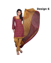 TopDeals American Crepe Unstitched Salwar Suit(CZLDR2530VU), multicolor, design 6
