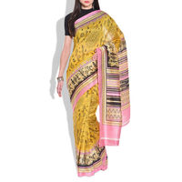 Vamika Bhagalpuri silk Saree, yellow