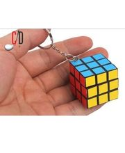 FloMaster-The Rubiks Cube Keychain, multicolor