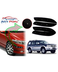 Auto Pearl - Premium Quality Car LED Blinking Bumper Protector for Ford Endeavour - Set of 4Pcs, black