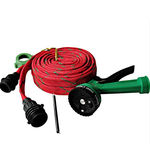 FloMaster Multifunctional Water Spray Gun With 10 Meter Hose Pipe, red