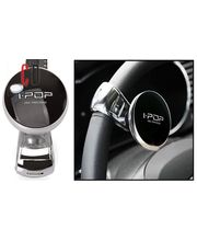 IPOP-Comfortable Steering Wheel Knob Black Big, clear