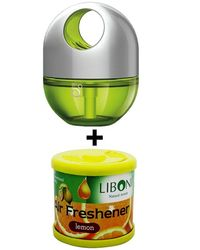 Car Perfume Godrej Twist & Liboni Air Freshner - Lush Green&Lemon, yellow