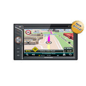 MapMyIndia Universal IN-Dash Car Navigation & Entertainment System-ICENAV 301, black