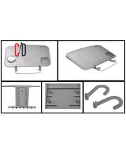 3R Multipurpose Car Laptop/Eating Tray, grey