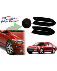 Auto Pearl - Premium Quality Car LED Blinking Bumper Protector for Ford Fusion - Set of 4Pcs, black