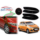 Auto Pearl - Premium Quality Car LED Blinking Bumper Protector for Hyundai i10 Grand - Set of 4Pcs, black