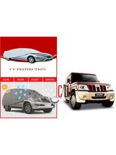 FloMaster Mahindra Bolero Heavy Quality Water Resistant Car Body Cover, silver