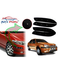 Auto Pearl - Premium Quality Car LED Blinking Bumper Protector for Ford Ikon - Set of 4Pcs, black