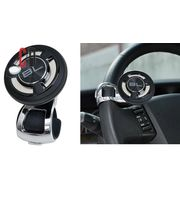 Black Label-Car Steering Wheel Power Holder Knob Spinner, black