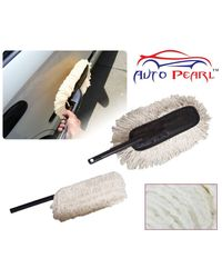 Auto Pearl Premium Quality Car Microfiber Duster Dirt Cleaning Wash Brush -Black, white