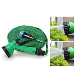 FloMaster Multifunctional Water Spray Gun With 10 Meter Hose Pipe, green