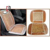 FloMaster-Car Acupressure Full Loosed Wooden Seat Beads, brown beige