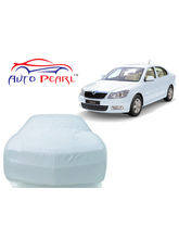 Auto Pearl Premium Matty Car Body Cover For Skoda Laura, silver