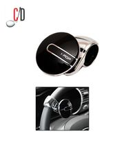 i-Pop Platinum Black Car Steering Wheel Power Holder Knob Spinner, black