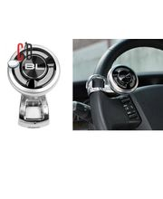 Black Label-Car Steering Wheel Power Holder Knob Spinner, silver