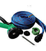 FloMaster Multifunctional Water Spray Gun With 10 Meter Hose Pipe, blue