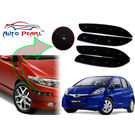 Auto Pearl - Premium Quality Car LED Blinking Bumper Protector for Honda Jazz - Set of 4Pcs, black