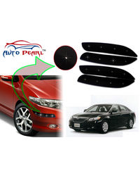 Auto Pearl - Premium Quality Car LED Blinking Bumper Protector for Toyota Camry - Set of 4Pcs, black