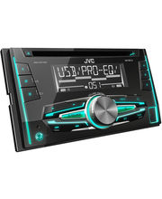 JVC KW-R510 Double DIN CD MP3 USB Tuner Car Stereo, black