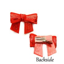 Dchica Sequined Bow Clip For Baby Girls,  pink