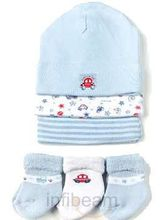 Baby Cap with Socks (Blue)