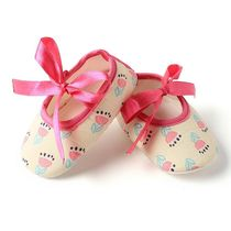 Dchica Pretty Flower Shoes For Baby Girls,  cream