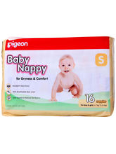 Pigeon- Baby Nappy Small 16 Pieces (Multicolor,S)