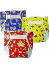 3Pcs Diaper Set - Small (Multicolor)