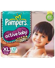 Pampers Active Baby Diapers Extra Large 32 Pieces (Over...