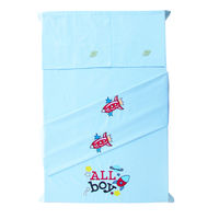 Baby Rap Aliens in space 2 Cot Sheets & 2 Pillow Covers Set, blue