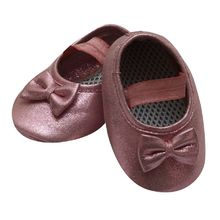 Dchica Shimmry Pink Shoes For Baby Girls With Soft Soles,  pink