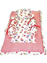 Red & White Bedding Set (Multicolor)