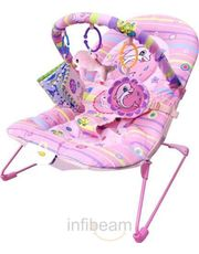 Tiny Toes Pink Dolphin Bouncer