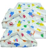 4Pcs Nappies (White)