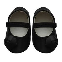 Dchica Chic Black Shoes For Baby Girls,  black