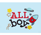 Baby Rap Aeroplanes 'N' Aliens in space 4 Cot Sheets & 4 Pillow Covers Set, blue and white