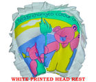 White Printed Pillow (Multicolor)