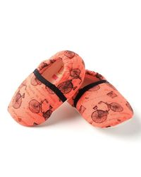 Dchica Cute Cyclist Baby Girls Shoes,  orange