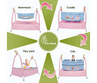 R for Rabbit Cradle N Crib 4 in one Baby Cradle, multicolor