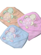 Set Of Three Imported Baby Towels (Multicolor)