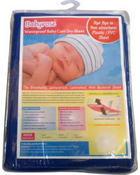Babyrose Waterproof Baby Sleeping Mat - Large, dark blue, large