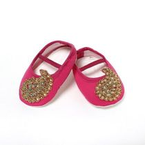 Dchica Exqusite Paisely Motifs Shoes For Baby Girls,  pink