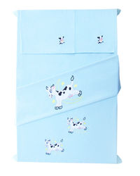 Baby Rap Cow over the moon 2 Cot Sheets & 2 Pillow Covers Set, blue