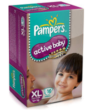 Pampers Active Baby Diapers Extra Large - 16 Pieces