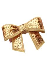 Dchica Bligy Fuschia Bow Clip For Girls, golden