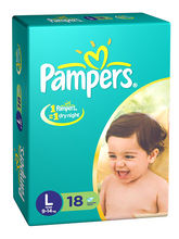 Pampers Diaper Large - 18 Pieces